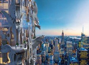 Новый нью-йоркский небоскреб в готическом стиле