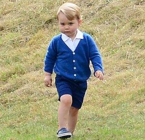 Первый день принца Джорджа в детском саду