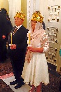 Венчание Юрия Лужкова и Елены Батуриной в собственной церкви