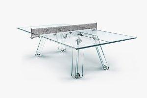 Хрустальный стол для игры в настольный теннис от Calma e Gesso