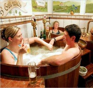 Джакузи с пивом от австрийского пивоваренного завода Starkenberg Brewery