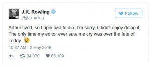 Зачем автор книги про Гарри Поттера, убила одного героя