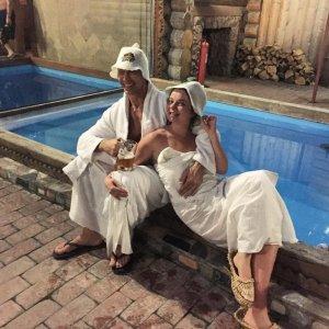 Празднование годовщины свадьбы Наташей Королевой и Сергеем Глушко в бане