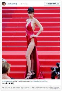 Скандальное платье Беллы Хадид