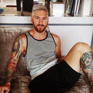 Лионель Месси сменил цвет волос