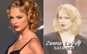 Тейлор Свифт похожа на известную сатанистку