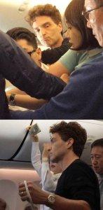 Известный артист Ричард Маркс в самолете утихомирил авиахулигана