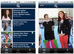 Модницы изучат наряды Кейт Миддлтон при помощи стильной программы для iPhone