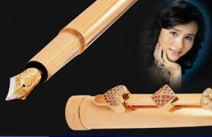 Перьевая ручка Diamond Pen из золота и бриллиантов для бизнес-вумен за $1.000.000