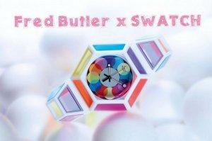 Эксклюзивная серия «радужных» часов от Swatch и Fred Butler