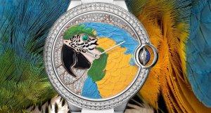 На часах от Cartier поселился ювелирный «зоосад»
