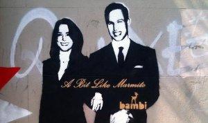 Брэд Питт купил портрет-граффити Кейт Миддлтон и принца Уильяма