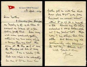 Эксклюзивное почтовое отправление с «Титаника» продали за $200.000