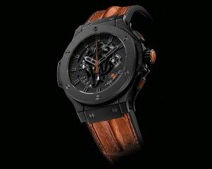 Дизайн новых часов Hublot Aero Johnnie Walker напоминает о благородстве элитного виски