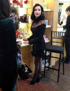 Модель Дита Фон Тиз презентовала роскошные духи Rouge