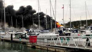 Пожар превратил яхту за $24.000.000 в пепел
