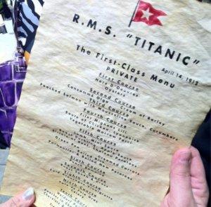 На аукционе Henry Aldridge & Son за £60.000 было продано меню ресторана «Титаник»
