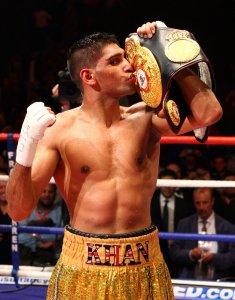 Роскошные боксерские шорты Амир Хана оценили в $47.000