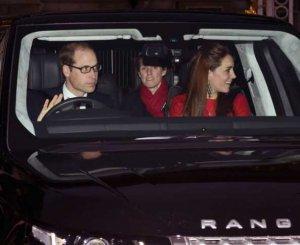 Кейт и Уильям Кембриджские отправились во дворец на рождественский ужин