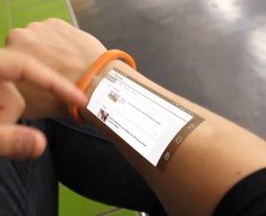 Кожа превращается в сенсорный экран с помощью браслета Cicret