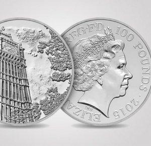 Королеву Елизавету отчеканили на эксклюзивных монетах в 100 фунтов