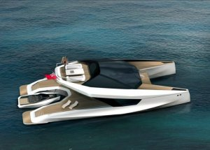 Роскошный катамаран 115' Power Catamaran будет создан компаниями JFA Yachts и Peugot Design Lab