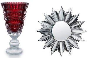 Новые вазы и зеркала от Baccarat сверкают хрустальной радугой